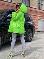 Жіноча зимове двостороння куртка на силіконі, фото 10