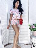 Пижама женская с шортиками пудра, серый 42,44,46,48, фото 2