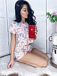 Пижама женская с шортиками пудра, серый 42,44,46,48, фото 3