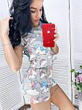 Пижама женская с шортиками пудра, серый 42,44,46,48, фото 5