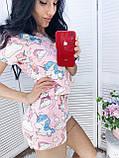 Пижама женская с шортиками пудра, серый 42,44,46,48, фото 4