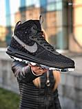 Мужские высокие кроссовки Nike LF1 DUCKBOOT 17 (черные/ звездочки), фото 2
