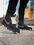 Мужские высокие кроссовки Nike LF1 DUCKBOOT 17 (черные/ звездочки), фото 3