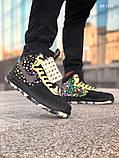 Мужские высокие кроссовки Nike LF1 DUCKBOOT 17 (черные/ звездочки), фото 4