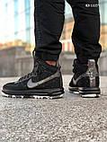 Мужские высокие кроссовки Nike LF1 DUCKBOOT 17 (черные/ звездочки), фото 5