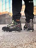 Мужские высокие кроссовки Nike LF1 DUCKBOOT 17 (черные/ звездочки), фото 6