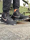 Мужские высокие кроссовки Nike LF1 DUCKBOOT 17 (черные/ звездочки), фото 8