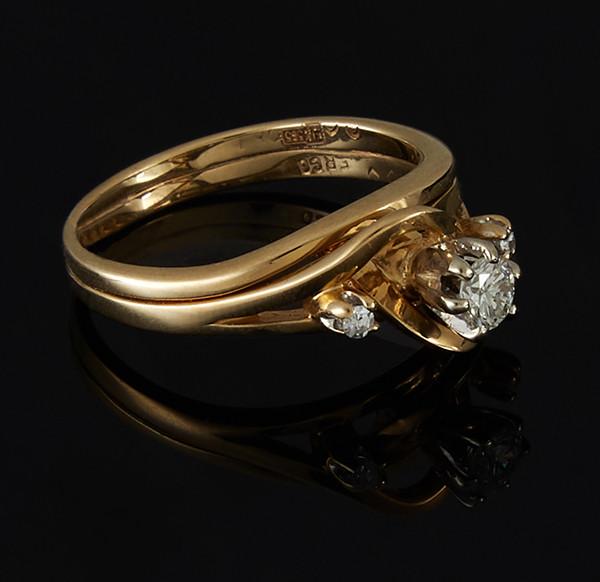 Золотое кольцо с бриллиантами С43Л1№10