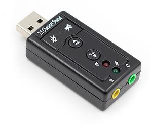 USB звуковая карта Kronos 3D Sound card 7 в 1 внешняя