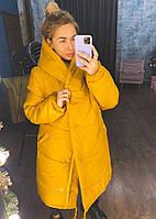 Жіноча тепла куртка зефирка з капюшоном в кольорах (Норма), фото 3