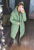 Жіноча тепла куртка зефирка з капюшоном в кольорах (Норма), фото 4