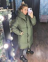 Жіноча тепла куртка зефирка з капюшоном в кольорах (Норма), фото 6