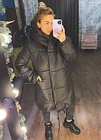 Жіноча тепла куртка зефирка з капюшоном в кольорах (Норма), фото 7