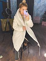 Жіноча тепла куртка зефирка з капюшоном в кольорах (Норма), фото 9