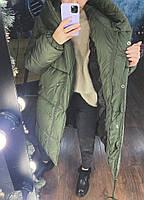 Жіноча тепла куртка зефирка з капюшоном в кольорах (Норма), фото 10