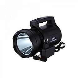 Мощный аккумуляторный фонарь прожектор ручной ударопрочный корпус Kronos LJ-8800 T6 30W T6 Черный (par_lj8800)