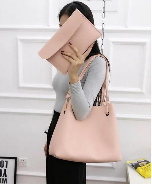 Женские сумки тоут Givenchy большая шоппер с органайзером цвет черный розовый коричневый экокожа