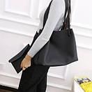 Женские сумки тоут Givenchy большая шоппер с органайзером цвет черный розовый коричневый экокожа, фото 2