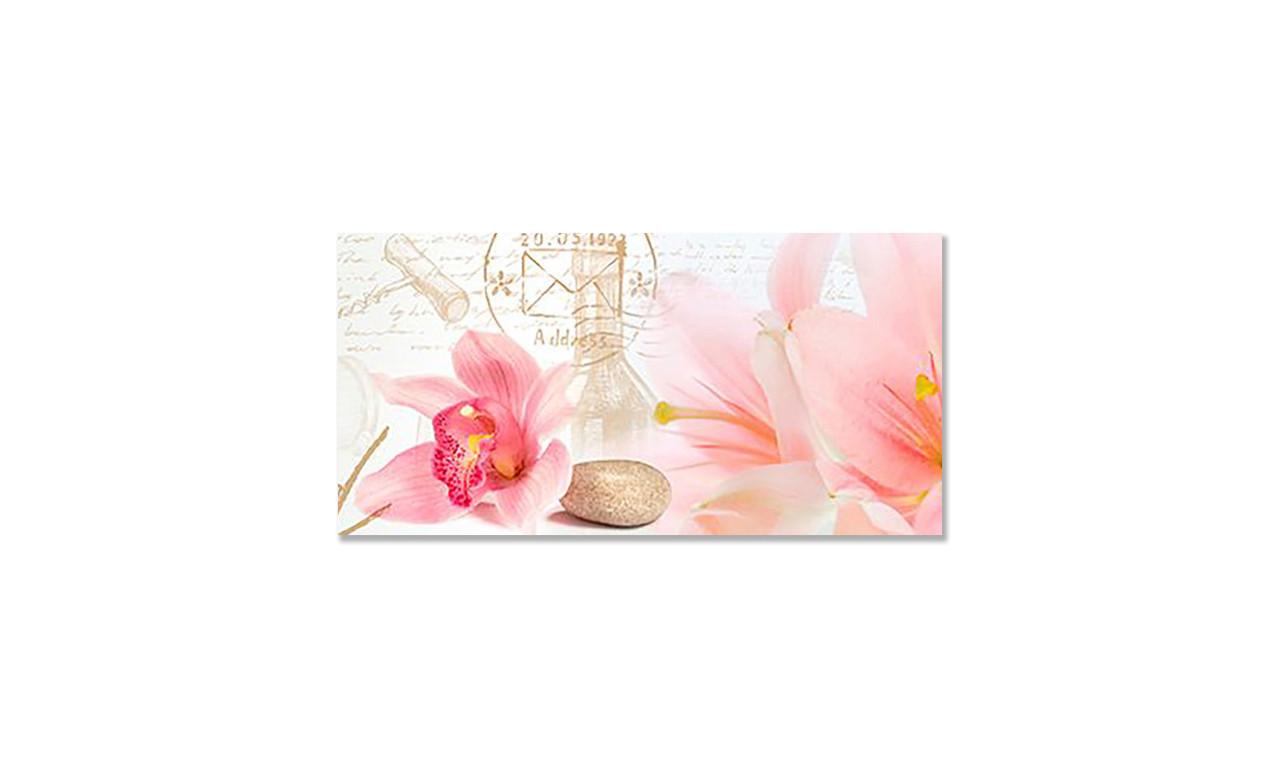 Наклейка 3Д виниловая на стол Zatarga «Орхидеи Крупные» 650х1200 мм для домов, квартир, столов, кофейн,