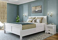 Белая деревянная кровать Луи Филиппе, фото 1