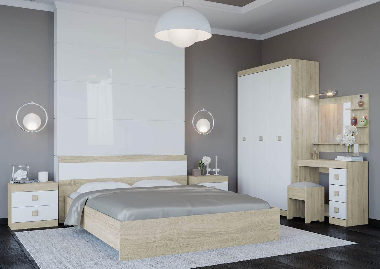 Спальня комплект 4 ЭВЕРЕСТ Дуб сонома + Белый