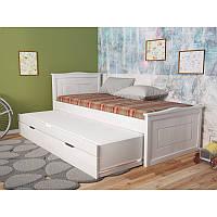 Деревянная детская кровать с дополнительным спальным местом Компакт Плюс