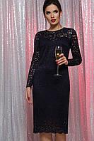 Кружевное платье вечернее из гипюра Р-ры: S, L Синий