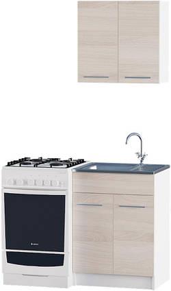 Кухня Эко набор 0.6 м ЭВЕРЕСТ Белый + Шимо светлый
