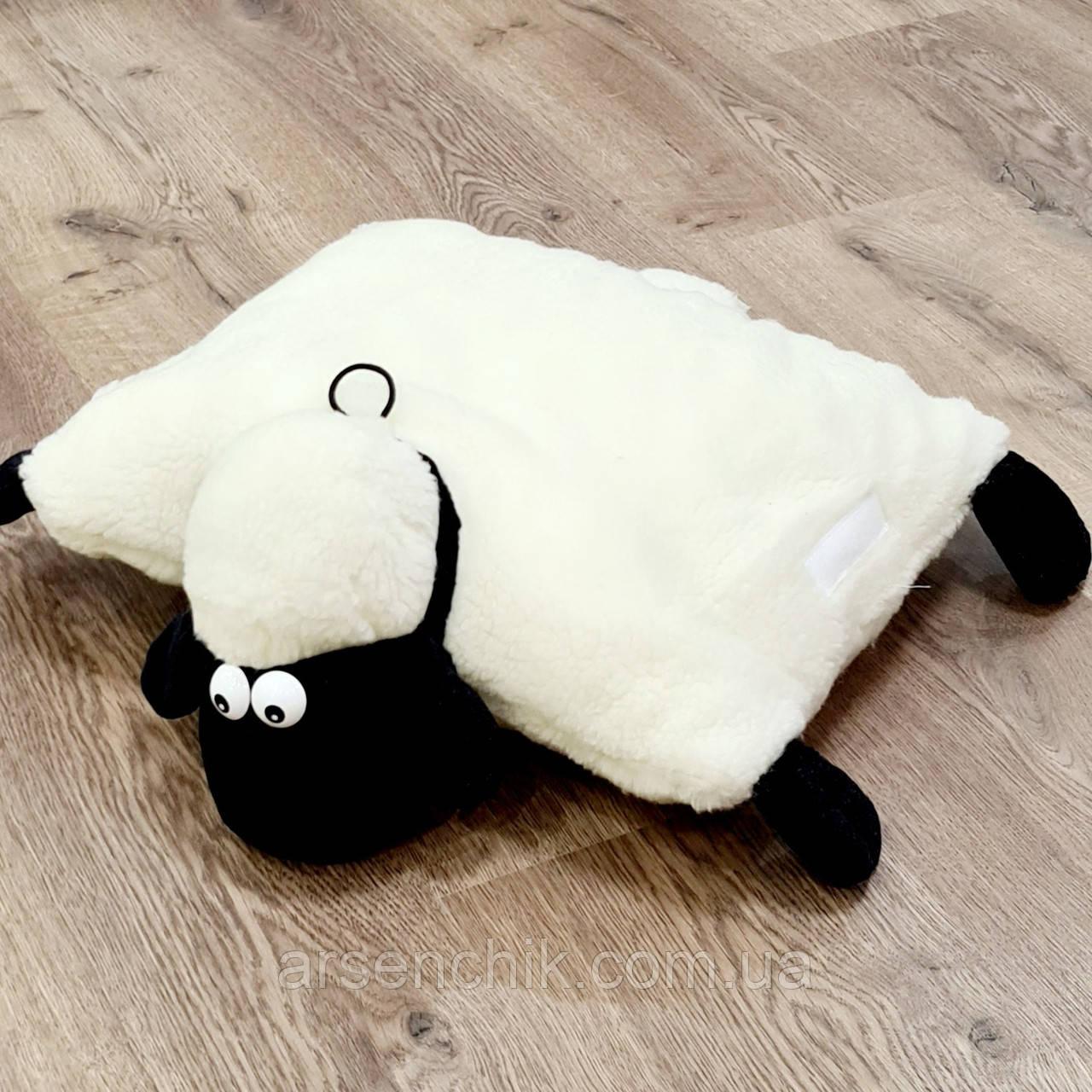 "Игрушка-подушка из овчины ""Барашек Шон"""