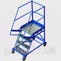 Лестница складская Н 1000 мм, передвижная лестница на склад