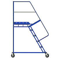 Лестница платформенная Н 1500 мм, лестница на колесах