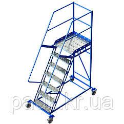 Металлическая платформенная лестница Н 1750 мм