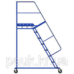 Лестница с платформой Н 2000 мм, складская лестница