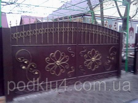Ворота въездные распашные, фото 2