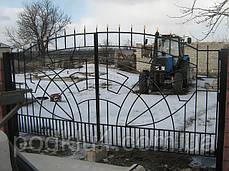 Ворота въездные распашные, фото 3