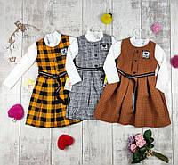 Платья детские для девочек сарафном с туникой, фото 1