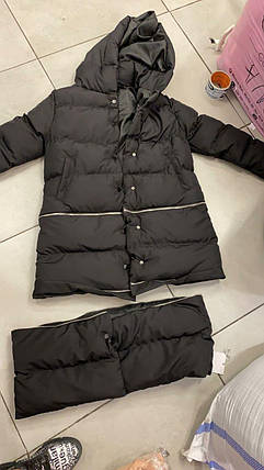 Тепла жіноча куртка-трансформер на кнопках 42-46 р, фото 2