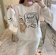 Пижама женская тёплая + маска  90132, фото 1