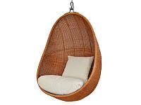 Подвесное кресло-кокон Эг CRUZO натуральный ротанг pk08215, КОД: 1925479