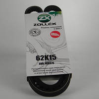 Zollex ремень клиновый 62к15 AV10X875La М-412, АЗЛК-2140