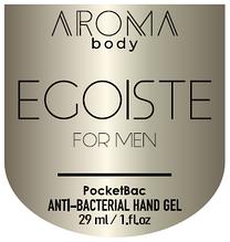 Антисептик 29мл 1 шт AROMA BODY ESSENTIAL, гель для рук санитайзер для мужчин PocketBac For Men