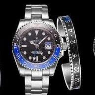 Rolex GMT Master Silver-Blue-Black