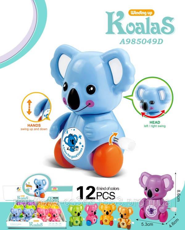 Заводна іграшка 6625 (480шт) коала,8,5 см,їздить,підв.деталі,12шт(6цветов) в дисплеї,28,5-20,5-9,5 см