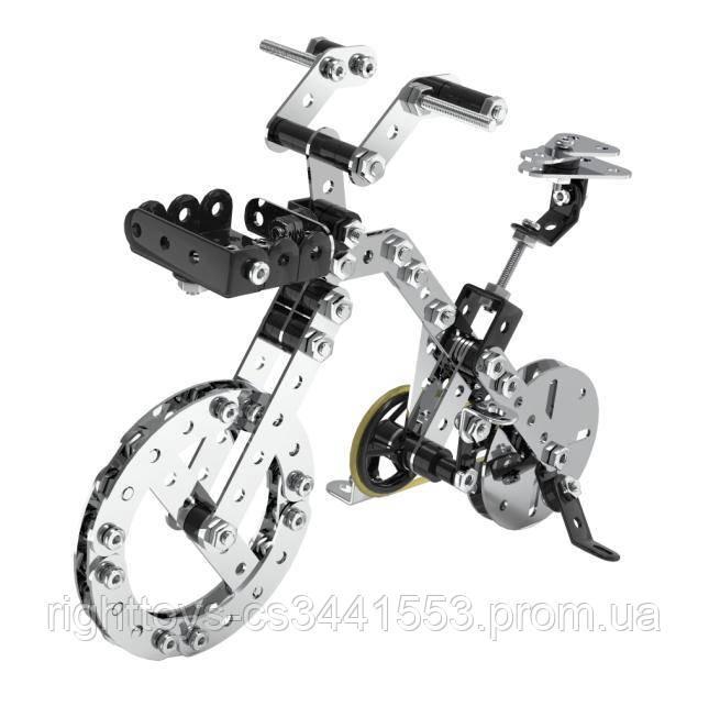 Конструктор SW-062 (24шт) металл, велосипед, отвертка,191дет, в кор-ке, 36-23,5-4см