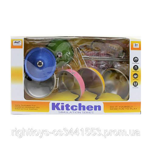 Посуда 555-CS004 (24шт) сковородки,кастрюля,кухон.набор,прихватка,металл,в кор-ке,37,5-21,5-11см