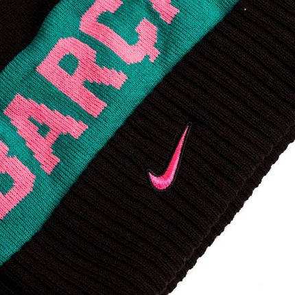 Шапка зимняя Nike FC Barcelona POM Beanie DA1715-010, фото 2