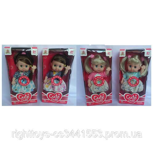 Кукла WD1851AB-52AB (36шт) 26см, муз, 4вида, на бат-ке, в кор-ке, 14,5-30-8,5см