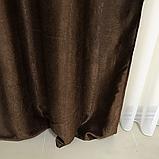 Сонцезахисні штори   Штори льону блекаут софт   Готові штори   100% захист від сонця   Шоколадні штори  , фото 3