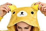 Кигуруми пижама Медведь Рилаккума, кигуруми Медведь Рилаккума для взрослых / Kig - 0046, фото 3