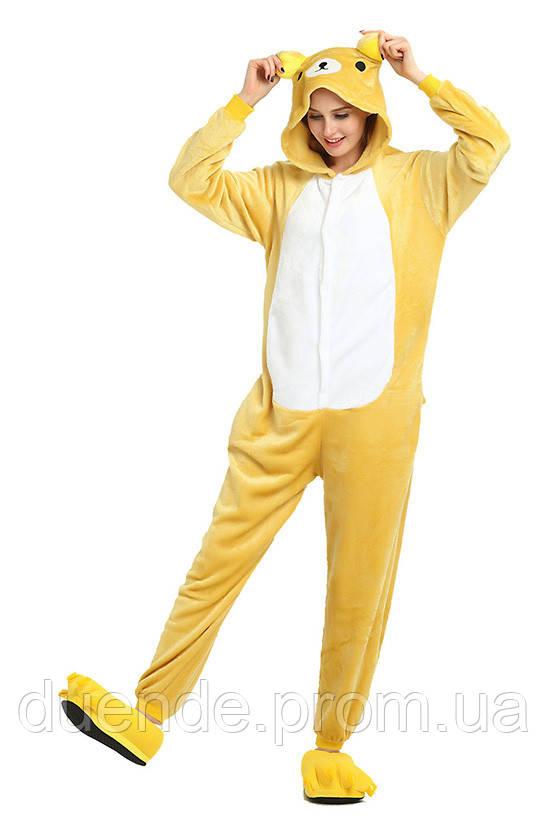 Кигуруми пижама Медведь Рилаккума, кигуруми Медведь Рилаккума для взрослых / Kig - 0046